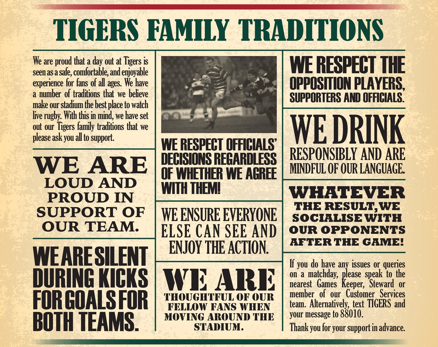 Tigers Family Traditions